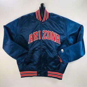 Starter Arizona WILDCATS Vintage Satin Jacket Med